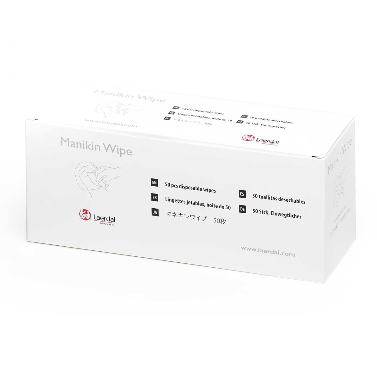 Pack of 50 Laerdal Manikin Wipes