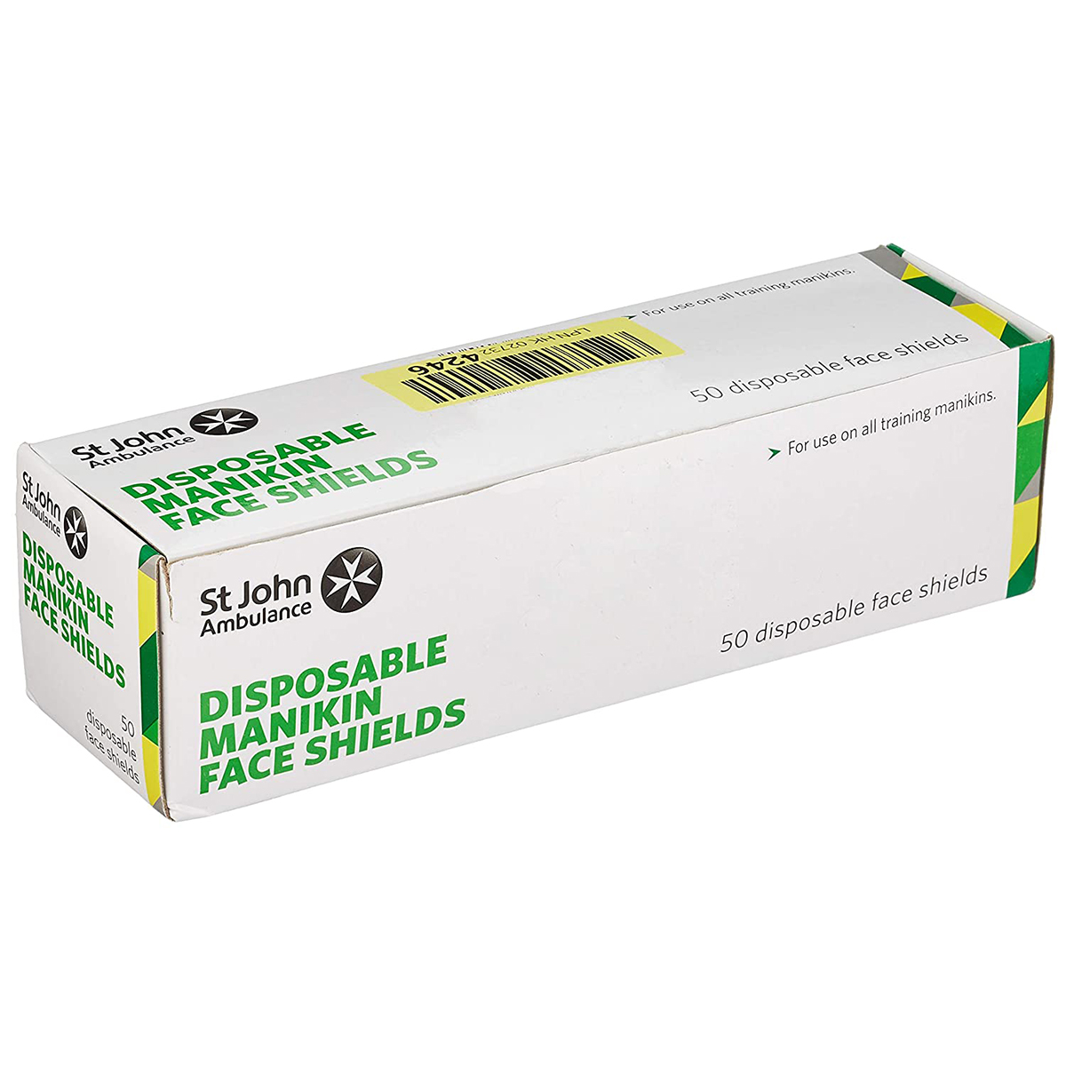 Roll of 50 St John Ambulance Disposable Face Shields